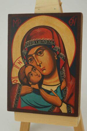 Theotokos Eleousa small Icon Hand Painted Byzantine Orthodox