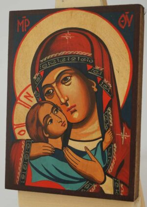 Theotokos Eleousa small Icon Hand Painted Byzantine Orthodox