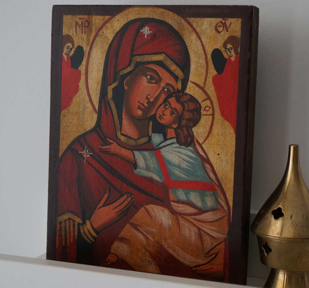 Theotokos Tenderness (small) Hand-Painted Orthodox Icon
