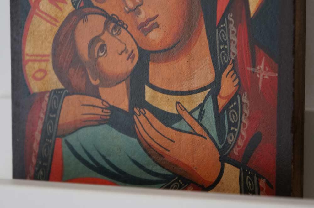 Theotokos Eleousa (small) Hand-Painted Orthodox Icon
