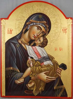 Theotokos Tenderness (Eleusa) Hand-Painted Orthodox Icon