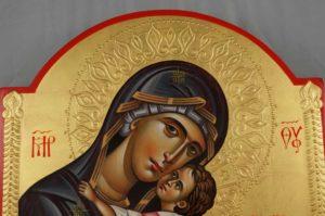 Theotokos Tenderness (Eleusa) Hand-Painted Orthodox Icon