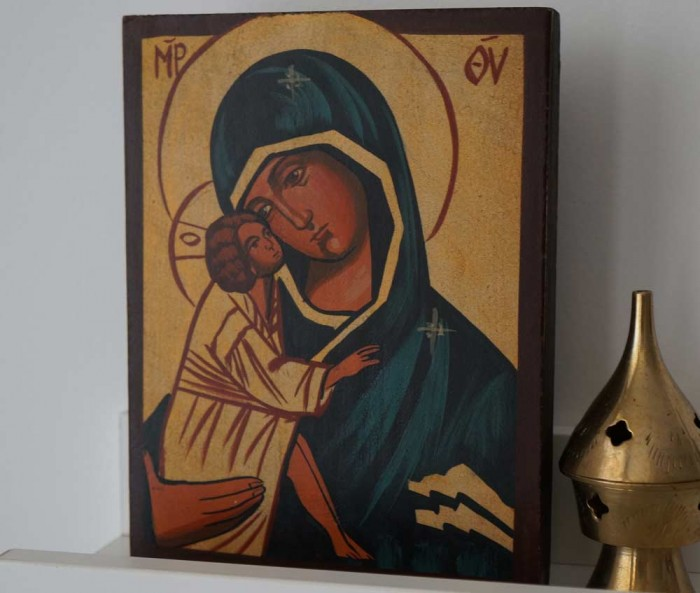 Theotokos Sweet Loving (small) Hand-Painted Orthodox Icon