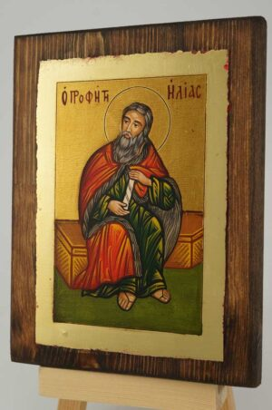 Holy Prophet Elijah small Icon Hand Painted Byzantine Orthodox