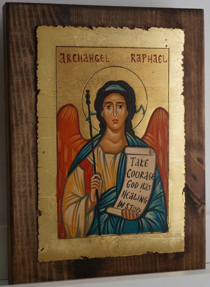 Saint Archangel Raphael (small) Hand-Painted Orthodox Icon