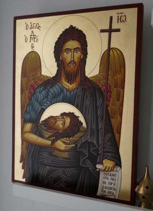 St John the Baptist (Large) Hand-Painted Orthodox Icon