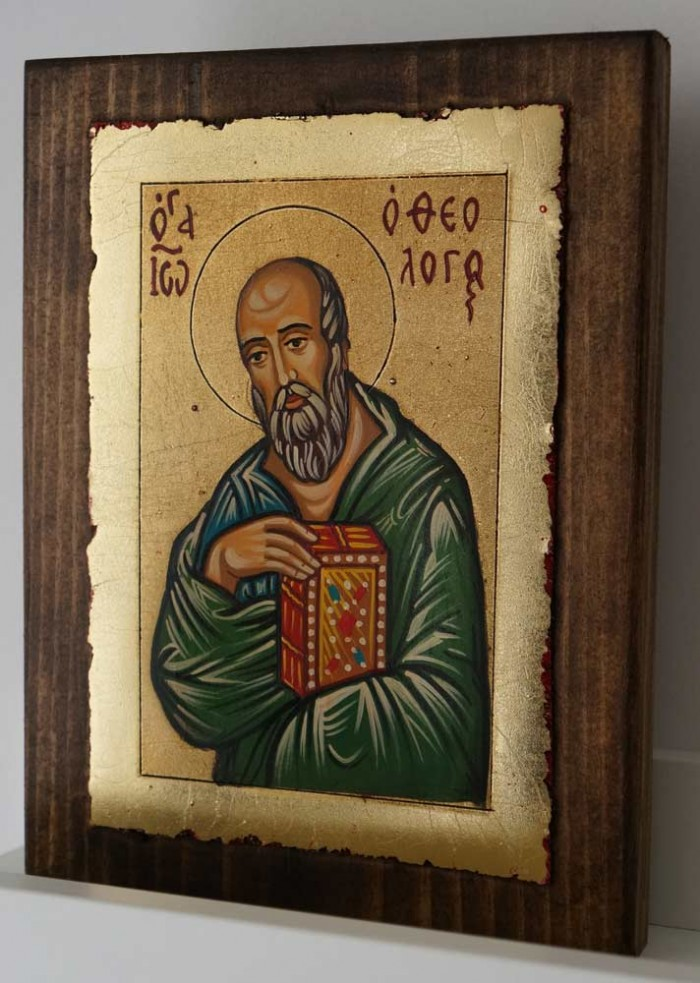St John the Theologian small Hand Painted Orthodox Icon