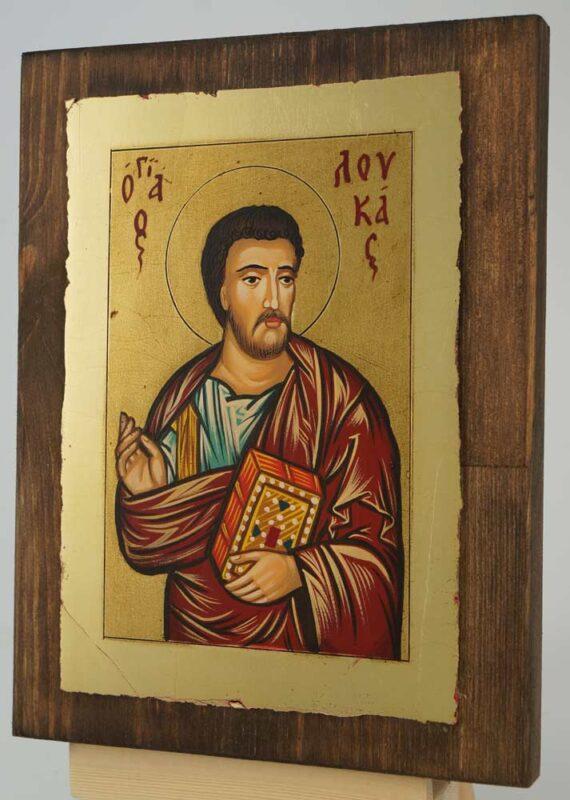 St Luke Apostle and Evangelist small Icon Hand Painted Byzantine Orthodox