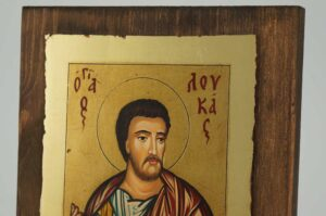 St Luke Apostle and Evangelist small Icon Hand Painted Byzantine Orthodox