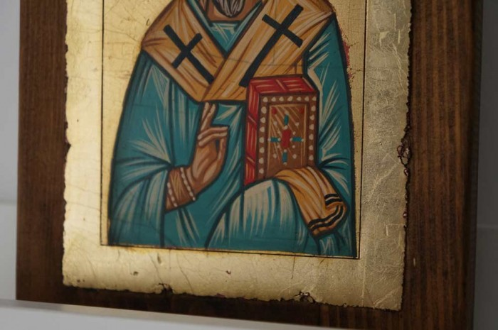 St Spyridon of Trimythous small Hand Painted Orthodox Icon