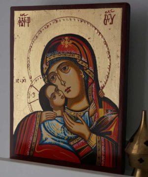 Virgin Mary Eleusa Rilska (small) Hand-Painted Icon