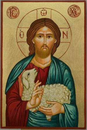 Christ the Good Shepherd Icon Orthodox Hand Painted