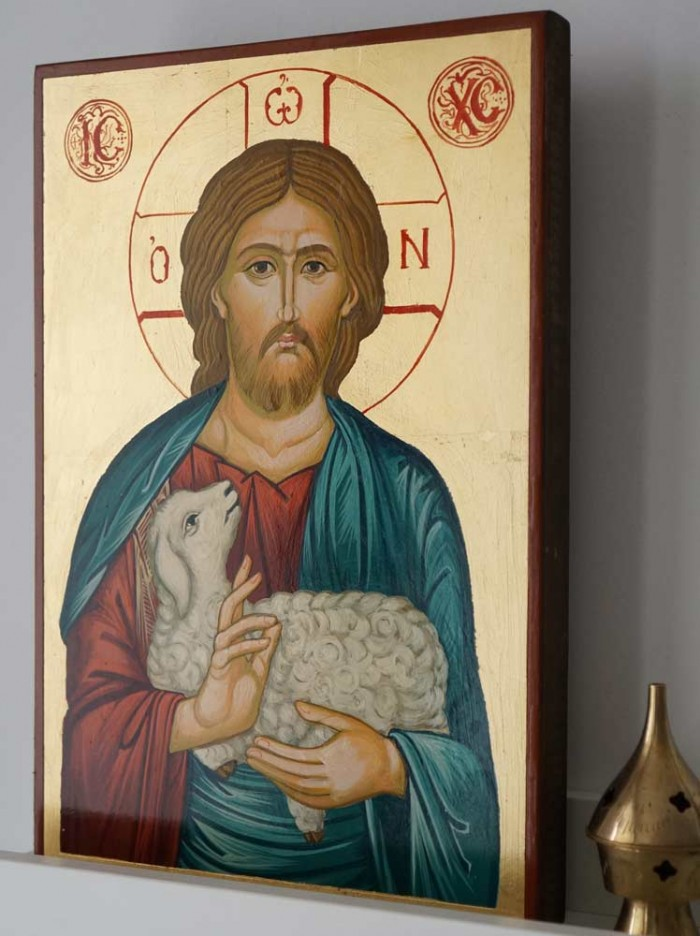 Christ the Good Shepherd Hand-Painted Orthodox Icon