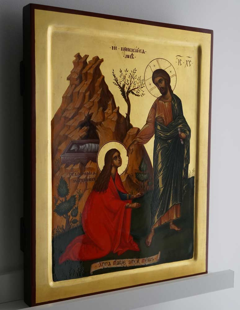 Christ Greeting Mary Magdalene (Noli Me Tangere) Hand-Painted Orthodox Icon