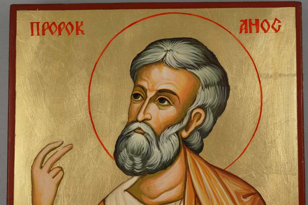 Prophet Amos Hand-Painted Orthodox Icon