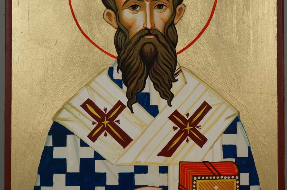 Saint St Ambrose of Milan Hand-Painted Orthodox Icon