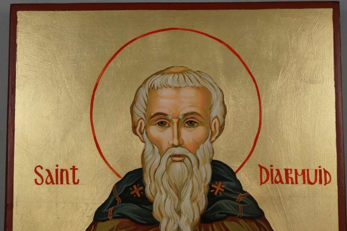 Saint Diarmuid Hand-Painted Orthodox Icon