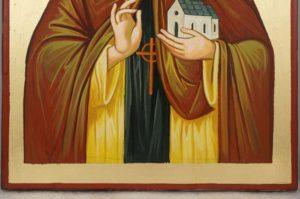 Saint Diarmuid Hand-Painted Orthodox Icon