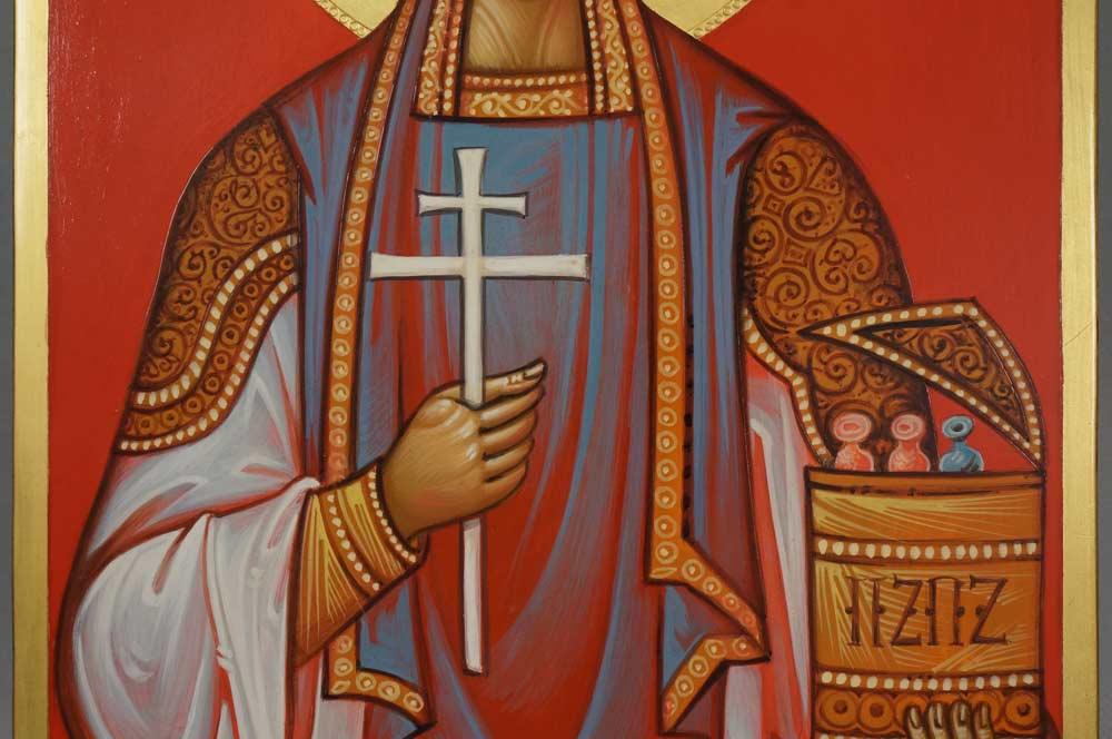Hand-Painted Orthodox Icon of Saint Pantaleon (Panteleimon) the Healer