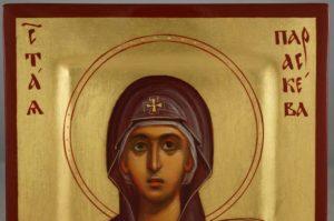Hand-Painted Orthodox Icon of Saint Paraskevi (miniature)