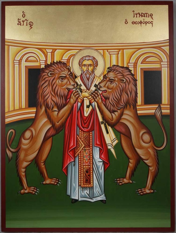 Hand-Painted Greek Orthodox Icon of Saint Ignatius of Antioch