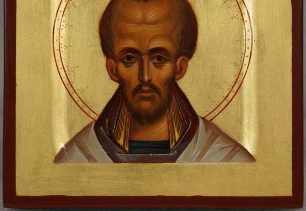 Hand-Painted Byzantine Icon of St Saint John Chrysostom (miniature)