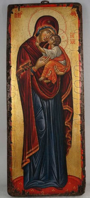 The Virgin Glykophilousa (Crete) Hand-Painted Greek Orthodox Icon
