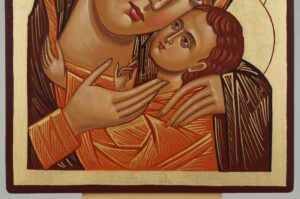 Theotokos Sweet Loving Icon Hand Painted Byzantine Orthodox