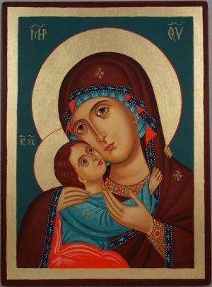 Theotokos Tenderness Rila Monastery Hand Painted Orthodox Icon