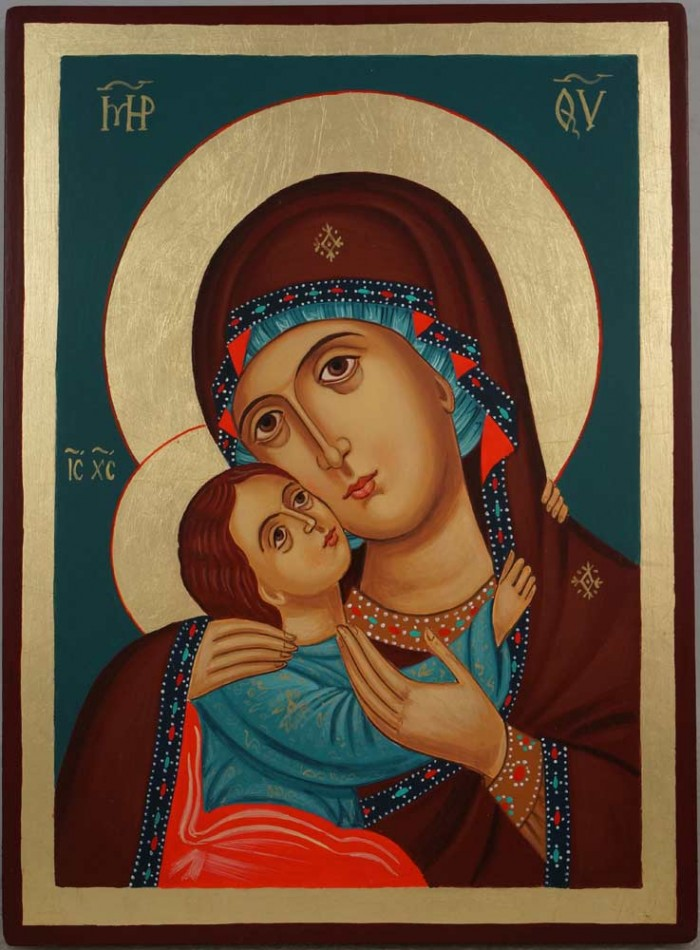 Theotokos Tenderness Rila Monastery Hand Painted Orthodox Icon