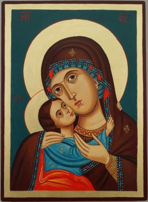Theotokos Tenderness Rila Monastery Hand Painted Orthodox Icon on Wood