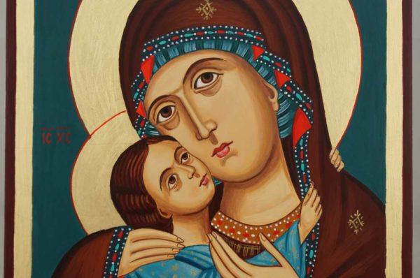 Theotokos Tenderness Rila Monastery Hand Painted Orthodox Icon on Wood