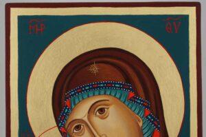 Theotokos Tenderness Rila Monastery Icon Hand Painted Byzantine Orthodox
