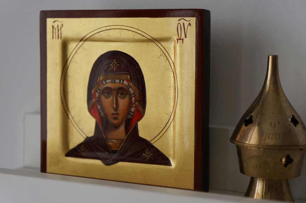 Virgin Mary (miniature) Hand-Painted Orthodox Icon