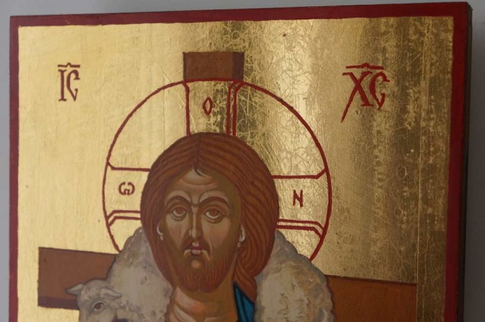 Christ the Good Shepherd Hand Painted Orthodox Icon