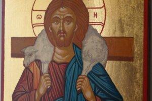 Christ the Good Shepherd Hand Painted Orthodox Icon