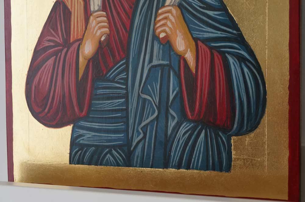 Hand-Painted Orthodox Icon of Christ the Good Shepherd