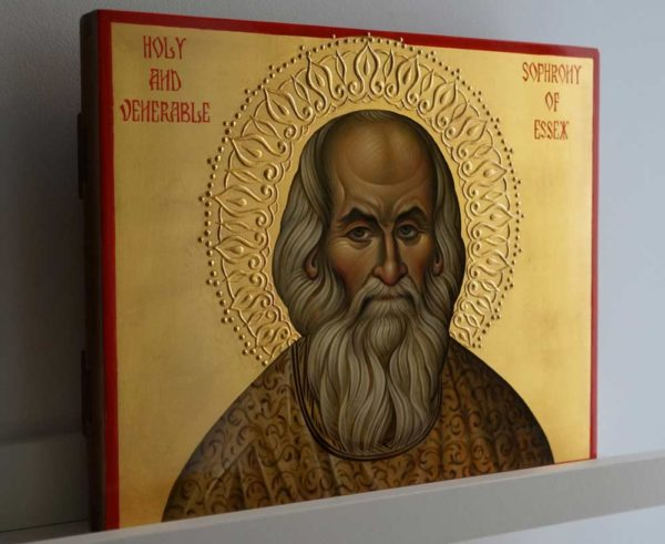 Holy and Venerable Sophrony of Essex Hand-Painted Orthodox Icon