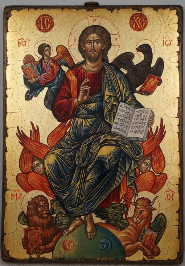 Jesus Christ in Glory (Cretan) Hand-Painted Byzantine Orthodox Icon