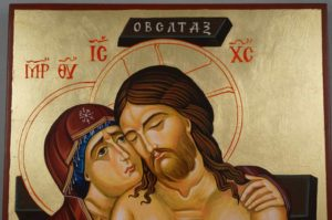 Jesus Christ Extreme Humility Hand-Painted Orthodox Icon