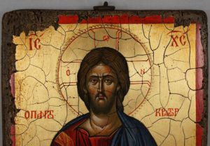 Jesus Christ Pantocrator Full Body Antique Style Hand Painted Byzantine Icon 12