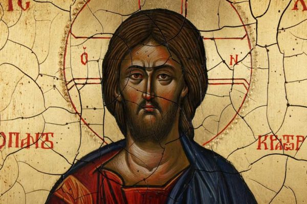 Jesus Christ Pantocrator Full Body Antique Style Hand Painted Byzantine Icon 13
