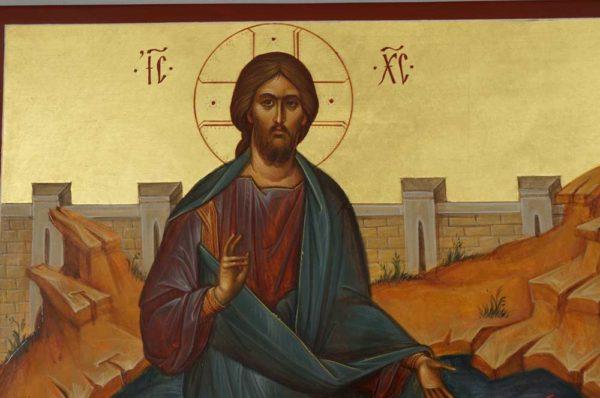Jesus Christ Walking on Water Hand-Painted Orthodox Icon