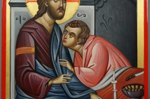 Last Supper Icon with Saint John the Beloved Hand-Painted Orthodox