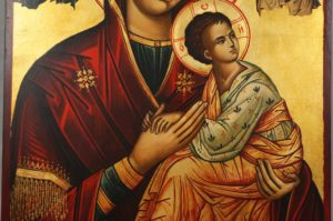 Our Lady of Perpetual Succour Hand Painted Byzantine Orthodox Icon on Wood