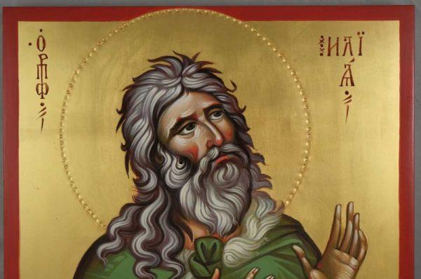 Prophet Elijah Elias Hand Painted Byzantine Orthodox Icon