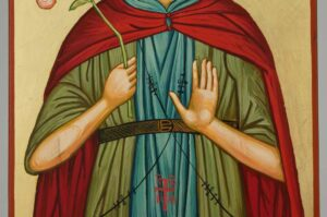 Saint Euphrosynos the Cook Icon Hand Painted Greek Orthodox
