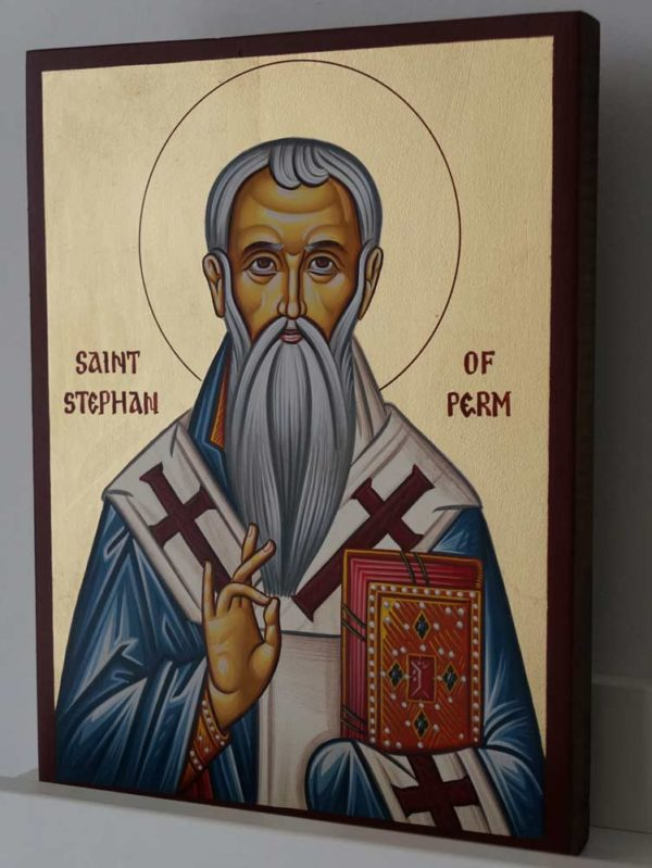 Saint Stephen of Perm Hand-Painted Orthodox Icon