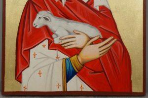 Saint St Agnes of Rome Hand-Painted Orthodox Catholic Icon