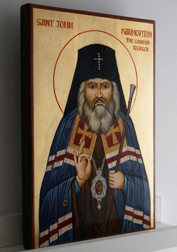 St John Maximovitch the Wonderworker Hand-Painted Orthodox Icon
